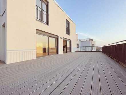 Traumhafte Terrassenwohnung an der Weißen Elster mit Einbauküche