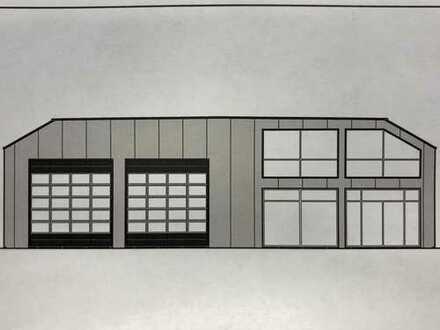 A-Lage Gewerbehalle mit Büro (Shopsystem) und großem Grundstück direkt an der B 184