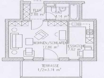 freundliche 1-Zimmer-DG-Wohnung in Ingolstadt-Süd