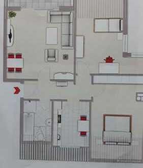 Modernisierte 3-Zimmer-Wohnung mit Balkon und Einbauküche in Witten