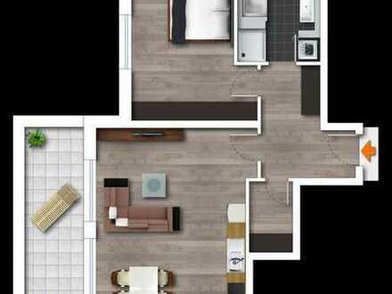Neubau, schicke 2-Zimmerwohnung im 1 OG. mit Balkon