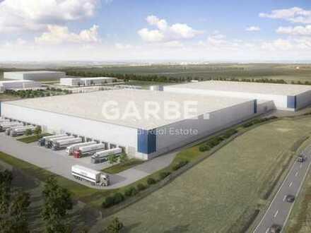Direkt vom Eigentümer: ca. 36.339 m² Neubau-Logistikzentrum, 16 Rampen, 18 ebenerdige Tore, 10m UKB