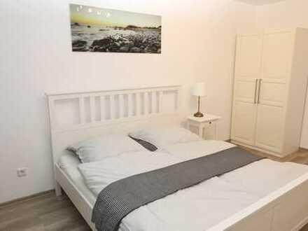 Schön möblierte Wohnung mit zwei Schlafzimmern in zentraler Lage