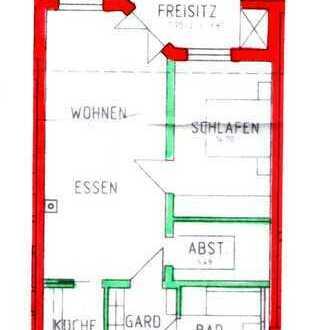 Helle 2-Zimmer-Wohnung mit Balkon - barrierefrei