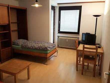 möbl. 1-Zimmerwohnung mit Wlan, TV, Balkon, komplett ausgestattet, flexibel mieten ab 1 Monat