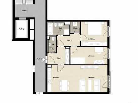 Preiswerte 2,5-Zimmer-Wohnung mit Balkon und Einbauküche in Zwickau
