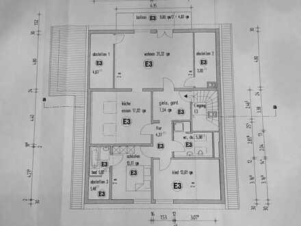 Gepflegte 3-Zimmer-DG-Wohnung mit Balkon und Klimaanlage in Achern, zentraler Lage
