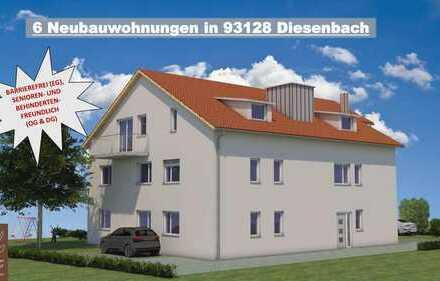 Provisionsfrei: Seniorenfreundliche 2-Zimmer DG-Wohnung mit Balkon in ruhiger Lage in Diesenbach