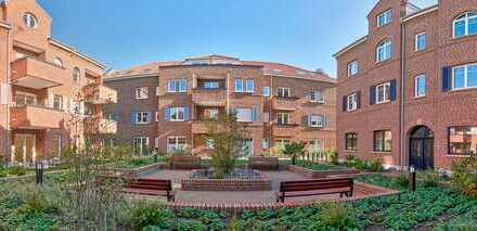 Sehr schöne & gehobene 2-Zimmer-Wohnung mit geschützter West-Terrasse im Zentrum von Rhede