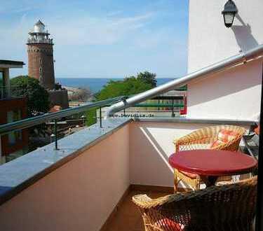 2-Zimmer Wohnung Kolberg Ausblick auf Leuchtturm
