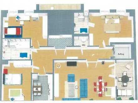 Hochwertig Wohnen im Erstbezug - 4 Raum mit Loggia, Fußbodenheizung, Lift im Flur