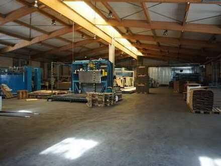 Im Alleinauftrag: Gepflegte Produktions- u. Lagerhalle, ca. 3.000 qm, in Sulzbach/Murr bei Stuttgart