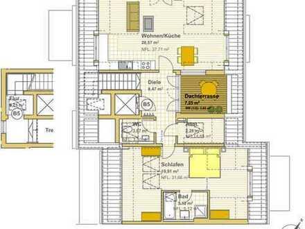 Provisionsfrei: Neubau, 2-Zimmer-Dachgeschosswohnung in Grafing b. München (S4)