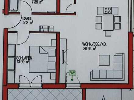 Erstbezug: Schöne 2-Zimmer-Wohnung mit EBK und Balkon in Kronau