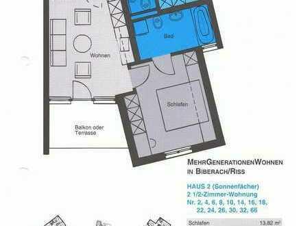2,5 Zimmer Dachgeschosswohnung behindertengerecht komplett mit Tiefgaragen Stellplatz