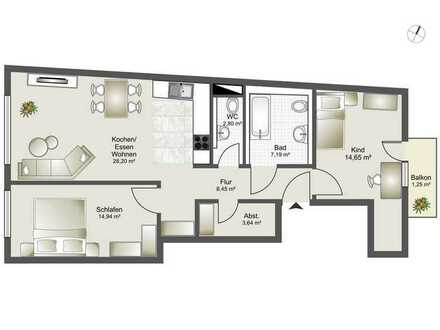 Neubau 8 Familienhaus-Zentrumsnahme ab 2,5 Zi. bis 4,5 Zi. ETW Whg. 4