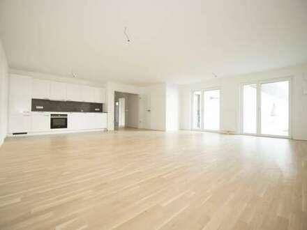 53m² Wohnzimmer mit Lichtvoute, Einbauküche mit Tresen - Exklusive 2 Zimmer Wohnung