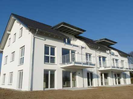STADTNAHES LANDLEBEN! Komfortable Neubau 3-Zi.-Erdgeschosswohnung mit Süd-Terrasse