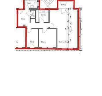 Schöne drei Zimmer Wohnung in Speyerer Altstadt