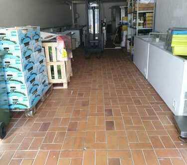 Attraktive Ladenfläche mit Produktionsflächen, Lager und Büro zu vermieten