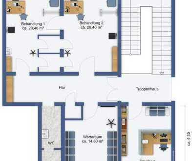 Gewerberäume / Büro (ehemalige Praxis) in guter / zentraler Lage von Freiberg, vielseitig nutzbar!
