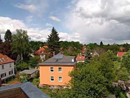 Wohnen über der Stadt! 4-R-WHG im Dachgeschoss mit Balkon und Kamin