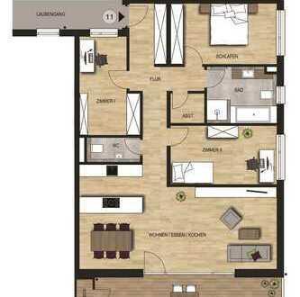 Neubauvorhaben 4 - Zimmer Wohnung mit Balkon