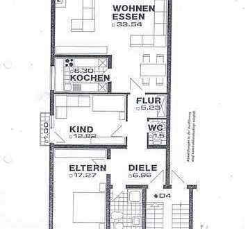 Helle 3-Zimmer-Wohnung mit Balkon und Einbauküche in Karben