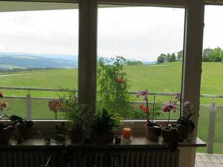 Gepflegte 2-Zi.-Wohnung mit freiem Blick auf die Alpen