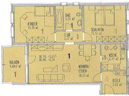 Frisch renovierte 3 Zi. Wohnung mit neuer Küche und Balkon