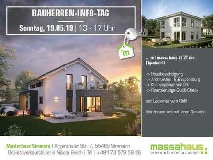 BAUHERREN - INFOTAG am 19.05. von 13 - 17 Uhr bei massa haus in Simmern!