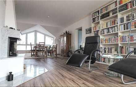 Großzügige, helle Maisonettewohnung mit Kamin, gr. Balkon und Ausblick in saniertem 8-Fam.-Haus