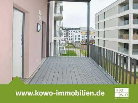 Exklusive 3-Raumwohnung mit Echtholzparkett, Fußbodenheizung, Terrasse und Balkon!