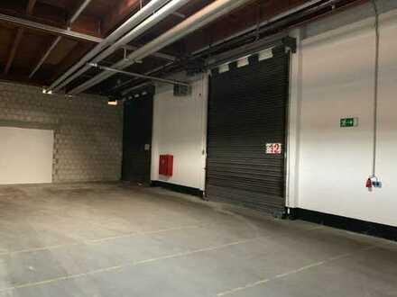 Beheizbare Lagerhalle mit 6 Rolltoren und 4 Laderampen inkl.Bürocontainer