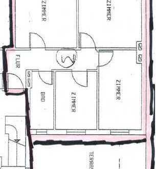 Ansprechende 3-Zimmer-Wohnung mit Terrasse in Wesseling