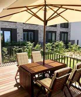 Wunderschöne 2-Zimmer Gartenwohnung am Hafen! Teilmöbliert
