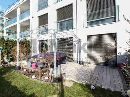 Wie im eigenen Haus: Wertige Galeriewohnung mit Terrasse und Garten im gefragten Textilviertel!