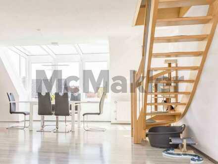 Profitable, schöne Maisonette mit 6 Zimmern und Garage in zentraler Lage