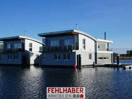 Floating House / schwimmendes Haus in Kröslin zwischen Greifswald und Insel Usedom (DTV 5-Sterne)