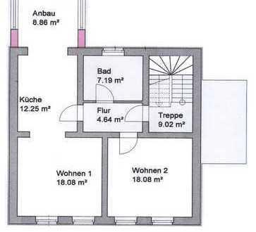 Schöne, geräumige zwei Zimmer Wohnung in Teltow-Fläming (Kreis), Zossen