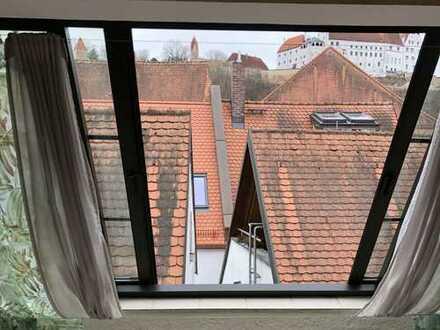 Helles Wohnvergnügen in der Altstadt - Blick auf Brug Trausnitz