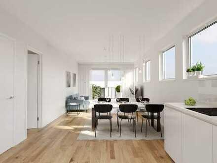 Modern. Hell. Freundlich. – 3-Zimmer-Maisonette-Wohnung mit Gäste-WC, 2 Bädern und sonniger Loggia