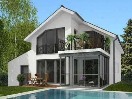 Schickes freistehendes Zweifamilienhaus massiv und schlüsselfertig gebaut, individuell planbar.