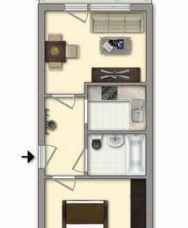 Bild_2 Zimmer I Balkon I Erdgeschoss
