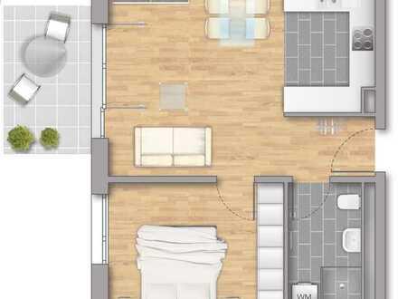 Großzügige 2-Zimmerwohnung mit Balkon!