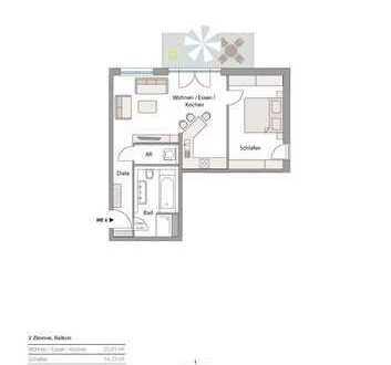 ERSTBEZUG! Neubau in Göggingen - exkl. 2 Zi-Whg. mit Balkon, zentrale aber ruhige Lage!