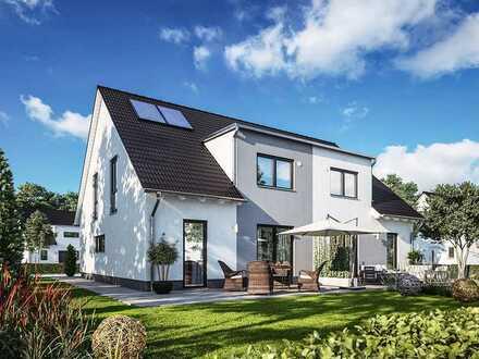 Grundstück in Oranienburger OT mit geplanter Doppelhaushälfte DUETT 125 von Town & Country Haus