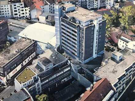 1 Zi -Cityappartement im 9. OG - ca. 40 m² inkl. Keller und TG-Stellplatz + Schwimmbad-Nutzung