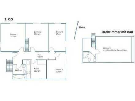 5-Zi-Maisonette-Wohnung, ideal für 3-4er WG, Hofheim-Diedenbergen