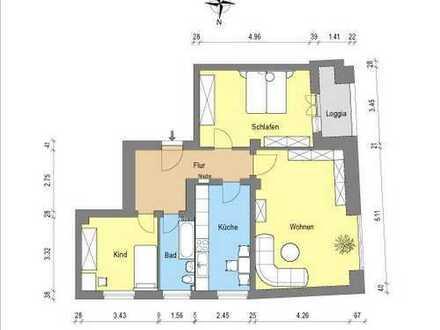 *traumhafte 3 - Zimmerwohnung mit Balkon*